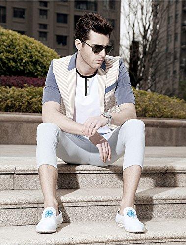 Mocassino Da Uomo Per Camminare Casual E Attività Allaria Aperta - Alta Moda Bianco