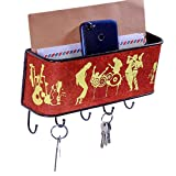 BarkClothed  Key and Mail Holder Rack , Key Organizer for Entryway - Music Print