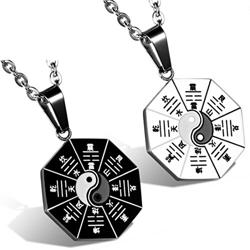 Flongo Tribal Stainless Pendant Necklace