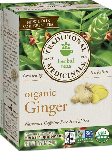 Medicinals traditionnelle gingembre biologique, les cases 16-Count (pack de 6)