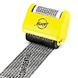 Miseyo Wide Roller Stamp Identity Theft Stamp 1.5 Inch Perfect for Privacy Protection - Yello
