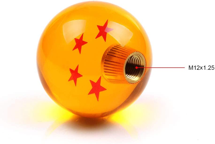 1 Star RASTP Dragon Ball Z Star Manual Gear Stick Shift Knob Universal Gear Shifter Knobs with Adapter Fits Most Car