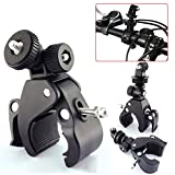 TraderPlus Motorcycle Bike Handlebar Mount Clamp w Tripod Adapter for GoPro Hero 5 - 4 - 3+ - 3 - 2 - 1 and other Cameras