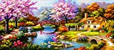 Sqailer 5D DIY Diamond Painting Full Square Drill Dream Home Rhinestone Embroidery for Wall Decoration 16X35 inches