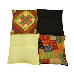 "Mucho mayor de 4 Cojín Algodón Patchwork Multicolor Home Décor Pillow Case pulgadas Indian Gift Art 16 """