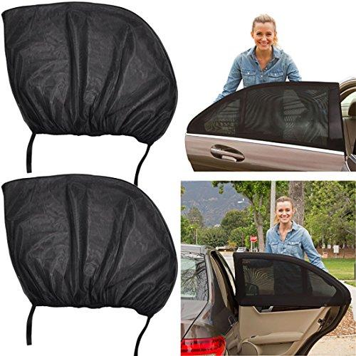 [Pack 2] Pare-Soleil pour la fenêtre latérale du Voiture, Universal Car Auto Pare-soleil Chaussettes Face arrière de pare-soleil UV Bloquer, protection pour votre bébé enfants Enfants
