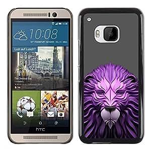 Be Good Phone Accessory // Dura Cáscara cubierta Protectora Caso Carcasa Funda de Protección para HTC One M9 // Paper Wood Lion Gray Animal King