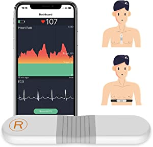Wellue Heart Rate Monitor Chest Strap - ANT + Bluetooth, Chest Heart Rate Sensor, HRM/HR Alarm - 24h Heart Rate Tracing, 30 mins Waveform Recording, Wearable Heart Rate Monitor for Outdoor Fitness
