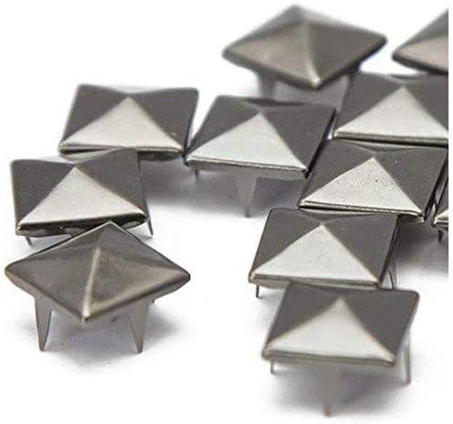 50x Métal Carré Pyramide rivet 6 mm ~ 12 mm Rivets Spike Leather Craft Vêtements Décoration