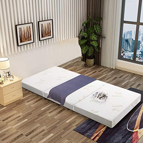 Inofia Folding Mattress with Memory Foam & Removable Bamboo Cover
