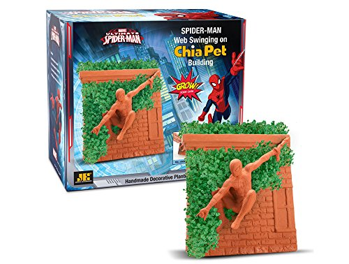 Chia Pet Spiderman, Marvel, Decorative Pottery Planter, Easy to Do and Fun to Grow, Novelty Gift, Perfect for Any Occasion from Chia