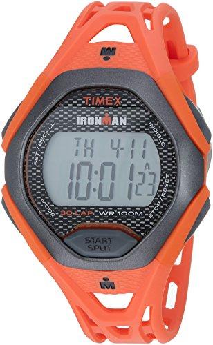 Timex Men's TW5M10500 Ironman Sleek 30 Orange/Black Resin Strap Watch (Resin Orange Watch)