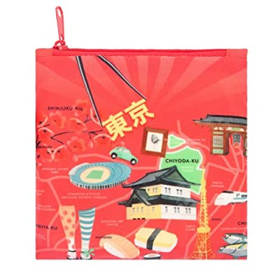 LOQI Urban Tokyo Reusable Shopping Bag, Multicolored