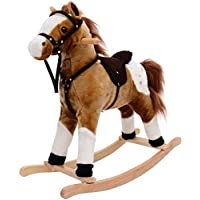 Playking Children Classic Rocking Horse Rider Toddler Kids Toy Saddle Ride Gift with Song
