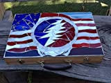 Grateful Dead ''Stealie'' Stained Glass memory Box, Stash Case, Rolling Tray, Unique Gift Idea, One of a Kind, Useable Art