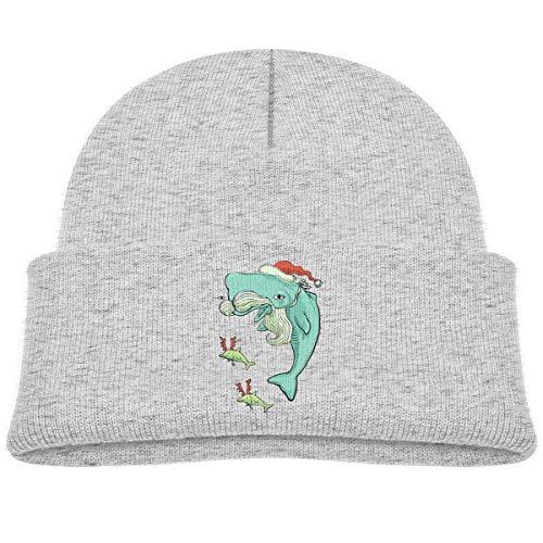 UMarsDeal Christmas Dolphin Santa Beanie Caps Knit Hats Infant