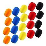 4sets of 5pcs Different Color Long Term Microphone Windscreen Sponge Foam Cov.