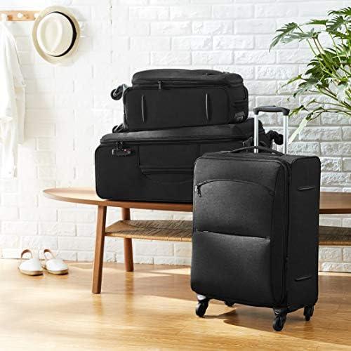 Amazon Basics Urban Softside Spinner Luggage, 3-Piece Set, Black