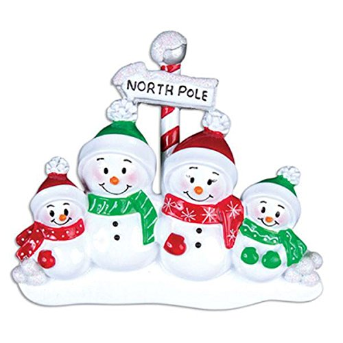 (YNK Personalized Christmas Ornaments Family Series-North Pole Family of (North Pole-4))