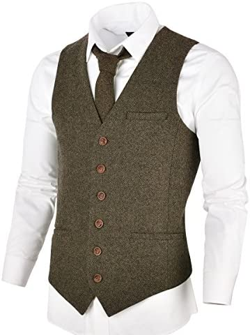 VOBOOM Herringbone Tweed Premium Waistcoat product image