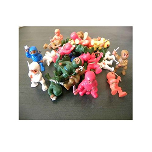 100 PCS *NINJA FIGHTERS NINJAS FIGURES WHOLESALE BULK VENDING TOYS PARTY FAVORS Easter Egg Hunt Pictures