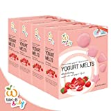 Wel B Freeze-dried, NEW!! Wel-B baby FD Yogurt Melts Strawberry 25g. (Pack 4 pcs.) by Thai Premium