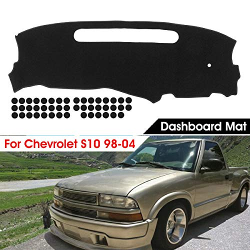 Black Dashmat Dashboard Mat Dash Cover Pad Protector For Chevrolet S10 1998-2004 Chevrolet S10 Dash Cover