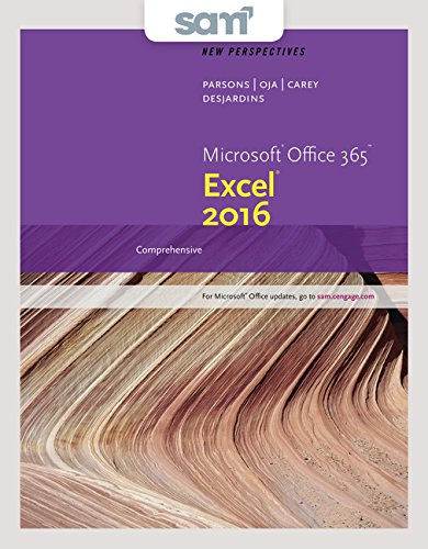 Bundle: New Perspectives Microsoft Office 365 & Excel 2016: Comprehensive, Loose-leaf Version + SAM 365 & 2016 Assessments, Trainings, and Projects with 1 MindTap Reader Multi-Term Printed Access Card by Cengage Learning