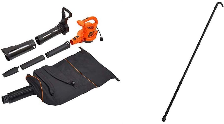 BLACK+DECKER Power Boost Blower/Vacuum with Quick Connect Gutter Cleaner Attachment (BEBL7000 & BZOBL50)