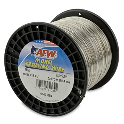 Image of American Fishing Wire Monel Trolling Wire, 40-Pound Test/0.63mm Dia/813m Lead Core & Wire Line