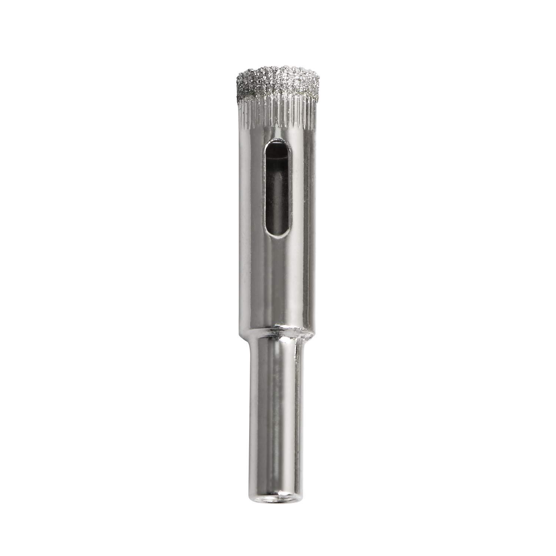 Aopin Diamond Drill Bits, Hollow Core Drill Bit Suitable for Glass, Ceramics, Stone, Glass Hole Saw, Diamond Drill Bit, Carbon Steel, 12mm Cutting Diameter, 1Pcs