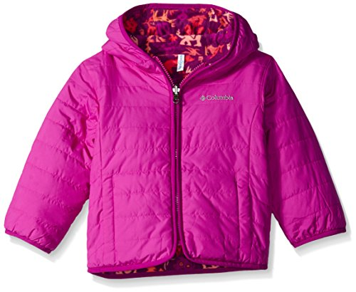 Columbia Little Girls' Toddler Double Trouble Jacket, Bright Plum Critters, 4T