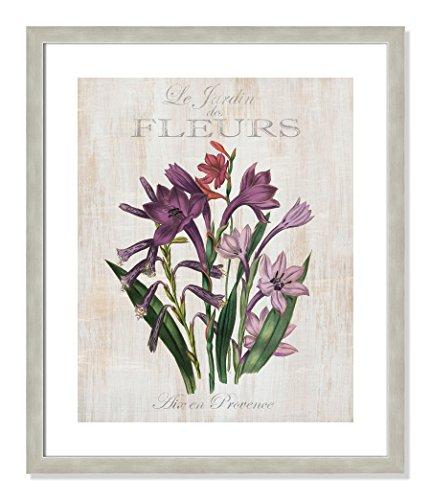 Casa Fine Arts Le Jardin des Fleurs II French Botanical Floral Vintage Style Archival Art Print, 20.5
