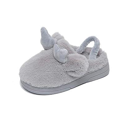 Zapatos de princesa Zapatillas de algodón Zapatillas de invierno para niños con ropa interior de algodón