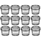 Ball Mason 4oz Quilted Jelly Jars with Lids and Bands SCIXui, Set of 60