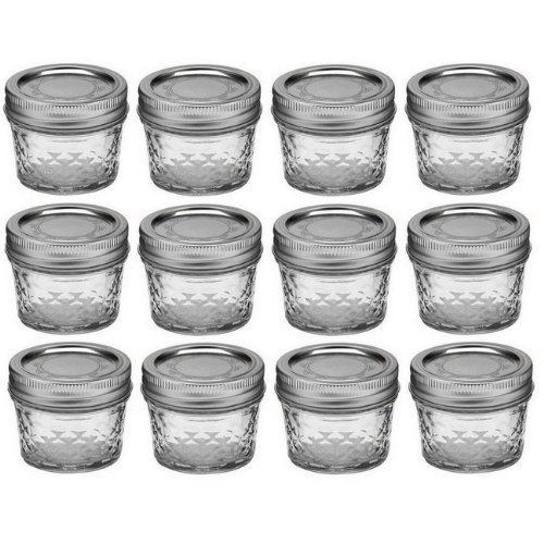Ball Mason 4oz Quilted Jelly Jars with Lids and Bands viHFdX, Set of 48 by Ball