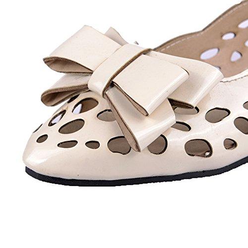 FBUIDD006778 Ballet Tacco Solid AllhqFashion Tirare Basso Beige Donna Flats SUB1qwz