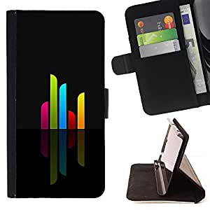 - Design Minimalist Bars - - Monedero PU titular de la tarjeta de cr????dito de cuero cubierta de la caja de la bolsa FOR Samsung Galaxy S4 Mini i9190 RetroCandy