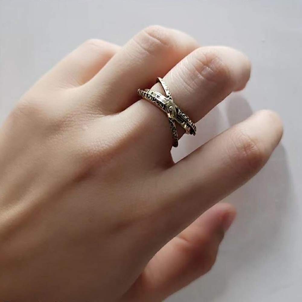 JAJAFOOK Astronomical Sphere Ball Deformation Ring Cosmic Finger Ring Lover Gifts Titanium Steel Rings