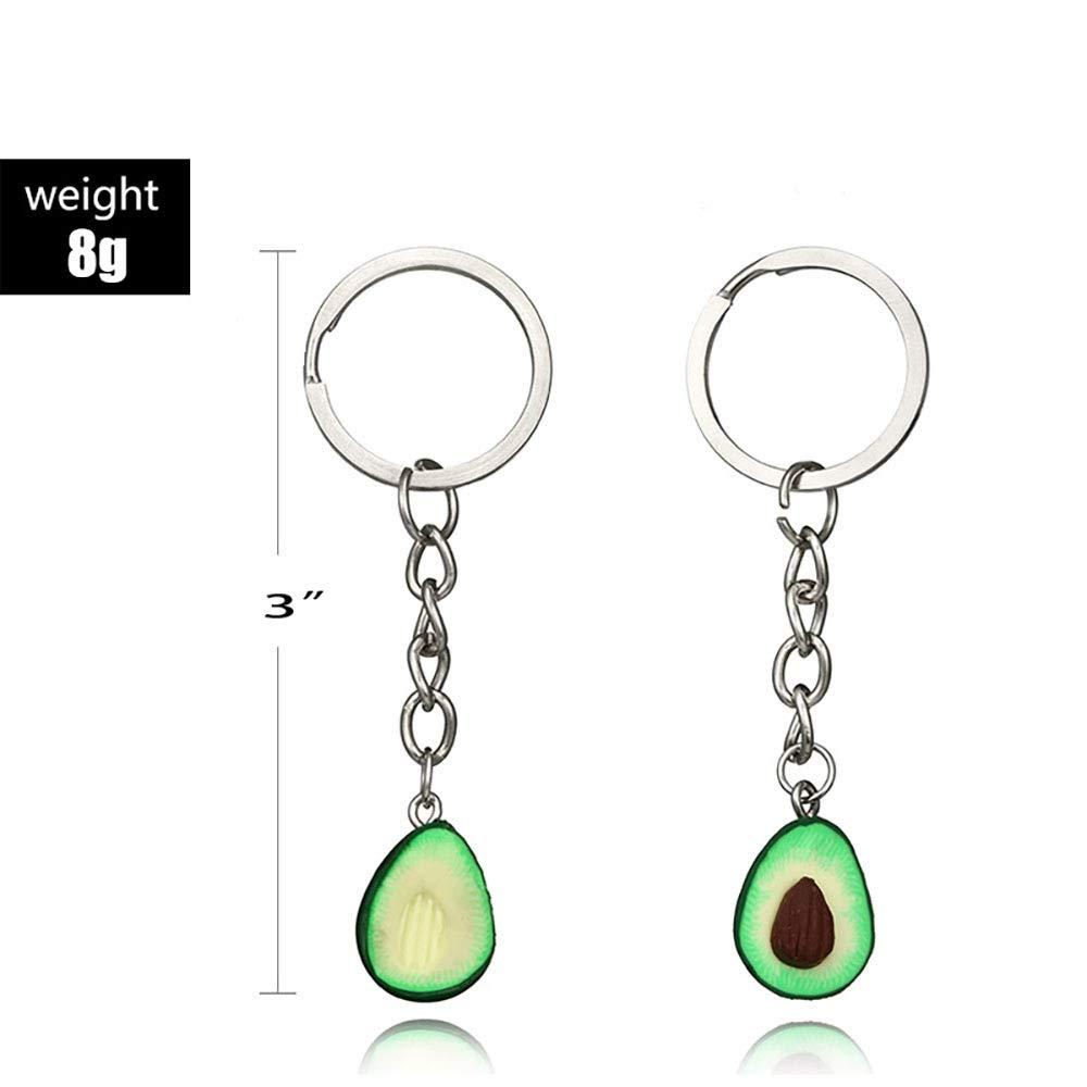 Amazon.com: Avocado llavero, collar de amistad hecho a mano ...