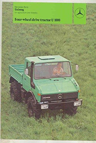 1984 Mercedes Benz Unimog U1000 Agriculture & Forestry Truck Brochure from Mercedes Benz