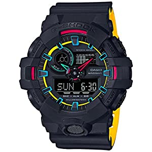 51I%2B8ThHunL. SS300  - Casio G-Shock GA700SE-1A4 53.4mm Resin Men's Watch (Matte Black/Yellow)