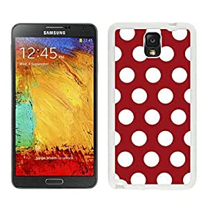 Awesome Samsung Galaxy Note 3 Case Polka Dot Dark red and White Soft Silicone TPU White Phone Cover Speck