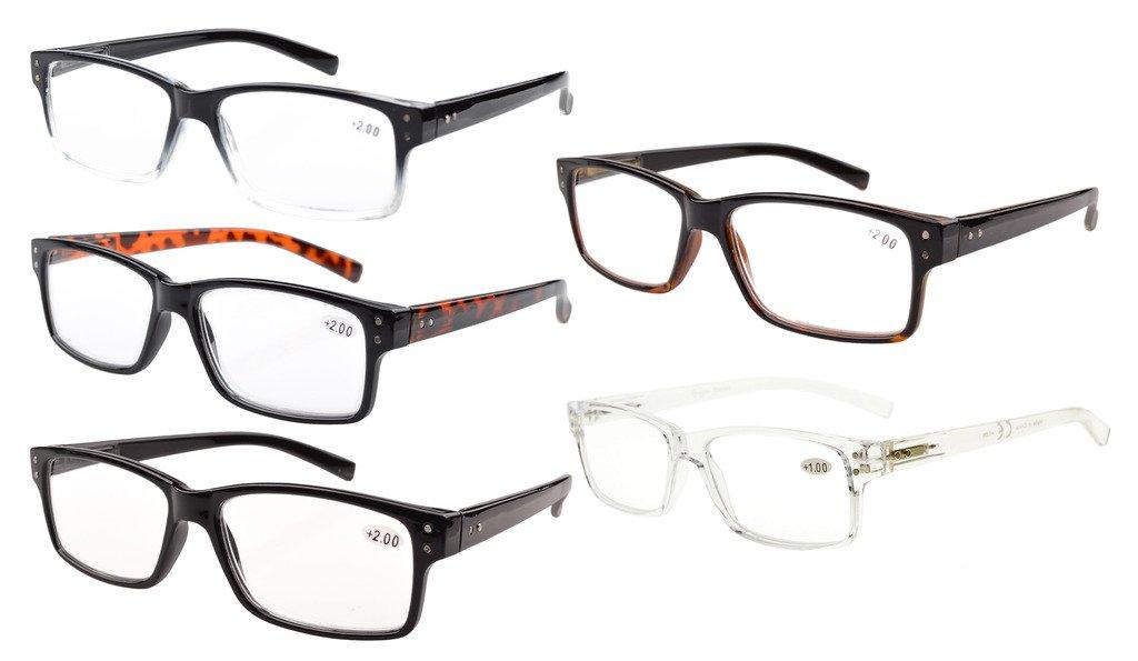Eyekepper Primavera bisagras Vintage lectura gafas hombres lectores(Uno para cada color,+1.50)