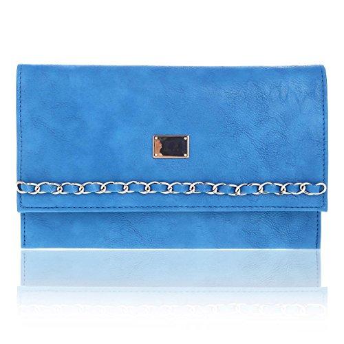 Elegant Clutch Blue Over Damara Slim Flap Daily Womens Bag zx4xdqYZ