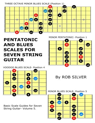 Download Pentatonic and Blues Scales for Seven String Guitar (Basic Scale Guides for Seven String Guitar) (Volume 5) ebook