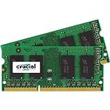 Crucial Technology 4GB (2x 2GB) 204-Pin SODIMM DDR3 (PC3-12800) Server Memory Module Kit, CL=11, Unbuffered, 1600 MT/S Speed, Non-ECC, 1.35V