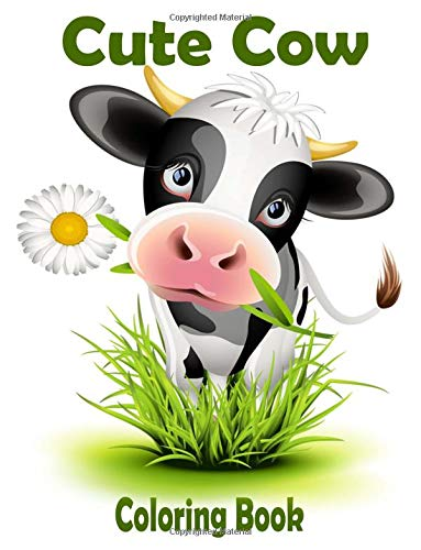 Cute Cow Coloring Book childrens product image