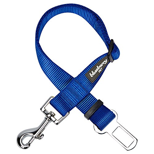 Blueberry Pet 12 Colors Classic Dog Seat Belt Tether for Dogs Cats, Royal Blue, Durable Safety Car Vehicle Seatbelts Leads Use with Harness