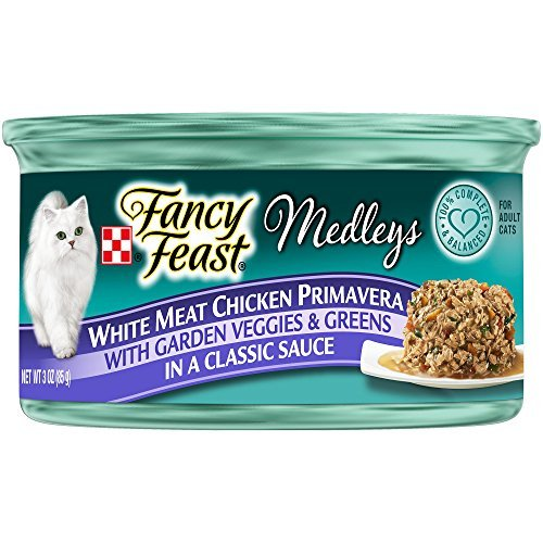 Fancy Feast Elegant Medley`s White Meat Chicken Primavera w/ Garden Veggies And Greens Cat Food 24 - 3oz Cans by Fancy Feast